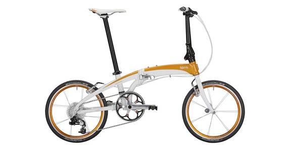 Bicicleta plegable tern Verge white/orange anaranjado/blanco